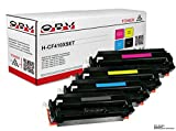 4x OBV Premium Toner | Kompatibel zu HP CF410X CF411X CF412X CF413X 410X 410A | Passend für HP Color Laserjet Pro MFP M477fdw , Pro MFP M477fdn , Pro MFP M477fn , Pro MFP M477fnw , Pro M452dn , Pro M452nw, Pro MFP M377dw , Pro M452 | Hohe Kapazität