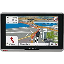 Becker active.6s EU plus Navigationsgerät (15,8 cm ( 6,2 Zoll ) kapazitives Echtglasdisplay, 46 Länder, lebenslange Kartenupdates, Live Verkehr, Blitzerwarner, Bluetooth) schwarz