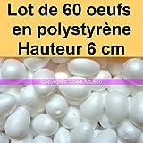 CONF 2 Uova Diametro cm 15.5 Bovelacci Uovo di POLISTIROLO CM 22.5 Diviso in 2 Parti