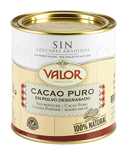 Chocolates Valor, Cacao Puro En Polvo Desgrasado, 250 g