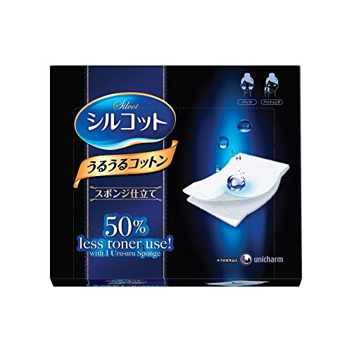 unicharm-silcot-uruuru-sponge-facial-cotton-40-sheets-by-unicharm