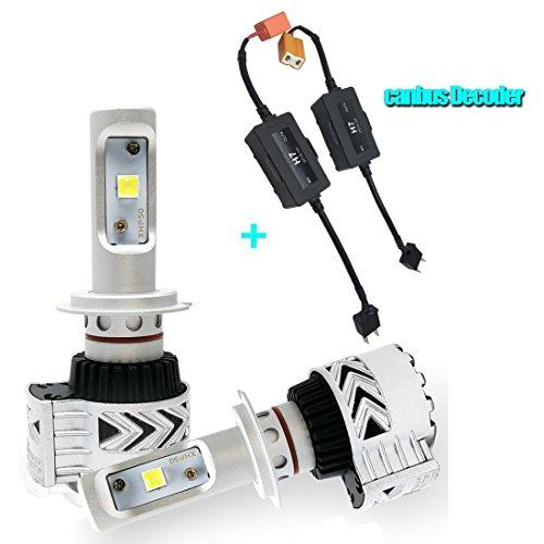 Preisvergleich Produktbild Auto-LED Lampen Scheinwerfer Auto Head Light Kit H7 75 W 12, 000lm weiß mit Canbus Decoder Fehler storniert anti-flicker relay1 Set