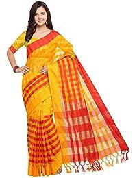 aeb3a36e21e798 EthnicJunction Women's Printed Un-stitched Saree In Cotton Silk Fabric  (EJ1500-1002)