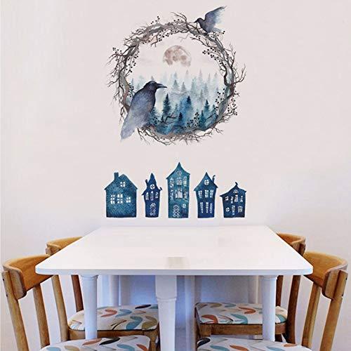 Kuletieas Neue Halloween Dekoration Geister Vögel Rabe Wandaufkleber Für Wohnzimmer Schlafzimmer Kinderzimmer Kunst Auf Wandbilder Poster