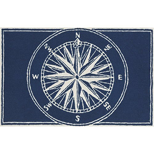 Trans Ocean Import (Liora Manne FT134A51033 Whimsy Sphere Rug, 30 x 48, Navy by Liora Manne)