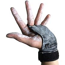 MACCIAVELLI - Guantes para Crossfit, Freeletics, Calisthenics y Gimnasia - Protección para tus manos (Negro, S)