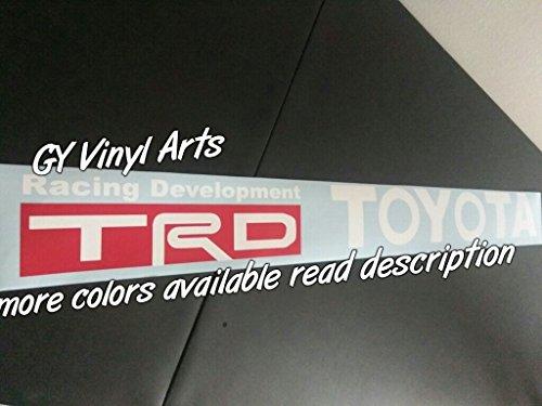 SUPERSTICKI® TRD Windshield Aufkleber Decal Hintergrund/Maße in Inch s Cars Stickers Banners Graphis JDM - Toyota Trd Decals