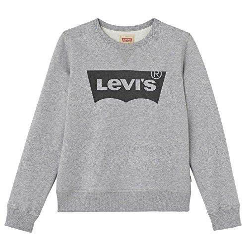 Levi's Kids Jungen Sweatshirt Sweat NOS BATWI, Grau (Gris Chine 20), 152 (Herstellergröße: 12A)
