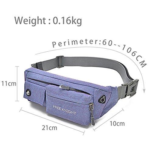 HongXing Taille Tasche Pack Slim wasserabweisend Reise Bauchtasche Running Gürtel für Reisen Radfahren Wandern Camping Violett