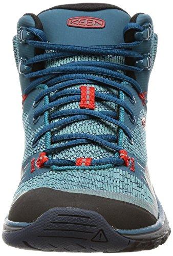 Keen Damen Terradora Mid WP Trekking-& Wanderstiefel BLUE CORAL/FIERY RED
