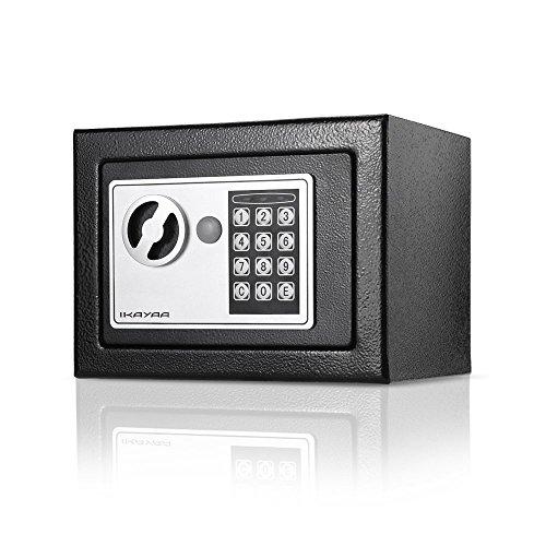 iKayaa Caja Fuerte de Acero Completo Caja Digital Caja de Seguridad El