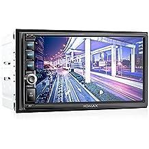 XOMAX XM-2VRSU732BT Autoradio / Moniceiver con vivavoce e riproduzione musicale via Bluetooth + Display touchscreen (Viola Bluetooth)
