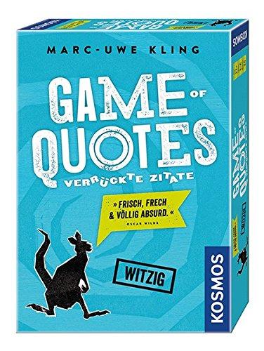 """KOSMOS Spiele 692926 - """"Game of Quotes"""" Spiel"""