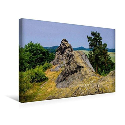 Premium Textil-Leinwand 45 cm x 30 cm quer, Teufelsmauer bei Westerhausen | Wandbild, Bild auf Keilrahmen, Fertigbild auf echter Leinwand. Felsformationen im Harz (CALVENDO Natur) (Premium-harz)