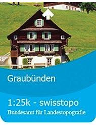Satmap Karte - Mapas de los cantones de Suiza para navegadores GPS Active 10 (escala 1:25000) Graubünden Talla:1:25000