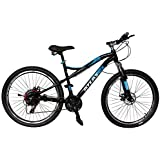 Atlas Skipper 26 Inches 21 Speed Front Suspention & Dual Disc Barkes Bike For Adults Black&Blue