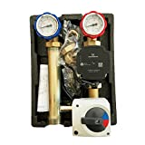 Pumpengruppe m. 3 Wege Mischer Stellmotor Hocheffizienzpumpe Grundfos UPM3 Hybrid 25-70 , 130mm, Anbindesystem DN25 Heizkreisset Heizkreispumpengruppe