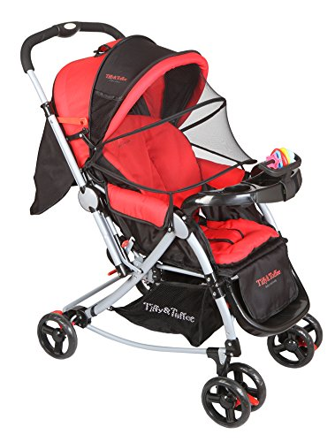 Tiffy & Toffee 3 in 1 Baby Stroller Pram (Red)
