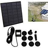 Pinkdose® 200L/H Solar Water Brushless Water Pump for Fountain Garden Small Type Solar Power for Fountain Pool Garden Landscape