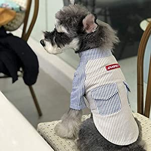 Frühling Sommer Dog Shirt Mode Gestreiften Kurzarm Coole Komfortable Baumwollhemd Universal Hundebekleidung Für Die meisten Hunde