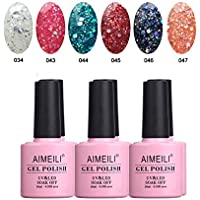 AIMEILI Soak Off UV LED Smalto in Gel Colorati Set