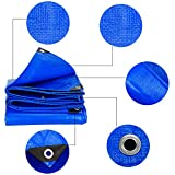 YXX- Large Tarpaulin Sheet Covers 5m Tarpaulin Waterproof Heavy Duty 3x4m Thicken PE Tent Splice Awning Sun Shade Outdoor Sunscreen -Blue,180G/M² (Size : 2*3m)