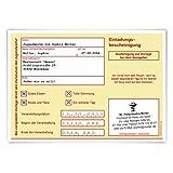 20 x Jugendweihe Einladungskarten Einladungen Jugendfeier - Krankschreibung Gelb