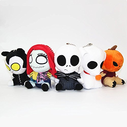 Auf Halloween Schaukel Dekoration Mädchen (Xizi Spielzeug für Halloween Geschenk Halloween Plüschtiere 5 PCS ein)