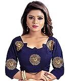 Dwarkesh Fashion Blue Bangalore Silk Blouse Material