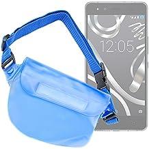 DURAGADGET Riñonera Azul Para Smartphone BQ Aquaris X5 Plus / E4 / E4.5 / E5s / E5 FHD - Resistente Al Agua - ¡Ideal Para El Mar Y Piscina!