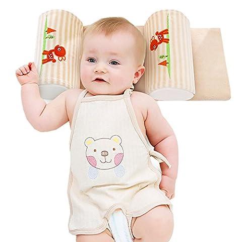 Gemini Fairy Babykissen Neugeborenes Säugling verhindern vom flachen Kopf-Baby-Kopf-Stützkissen, gegen Plattkopf und Verformung für eine schöne Kopfform ,100% schadstofffrei (Beige)