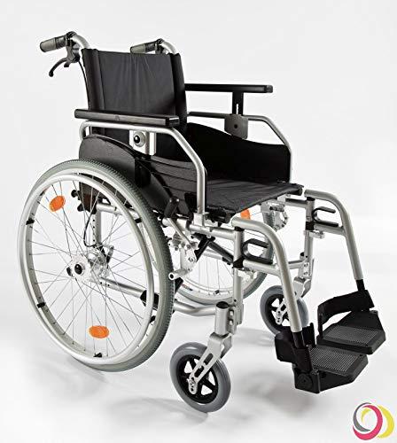 bescomedical Rollstuhl Primus ML-XL 2.0 mit Komfortpaket bis 190kg belastbar, Faltbar, Leichtgewicht, Trommelbremse mit Steckachsensystem, Sitzbreite 60 cm