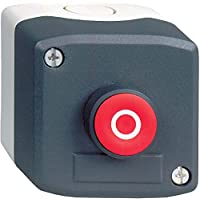 Schneider Electric XALD112E Harmony Caja con 1 Pulsador al Ras, 22 mm Diámetro, 1F+1O - O, Rojo