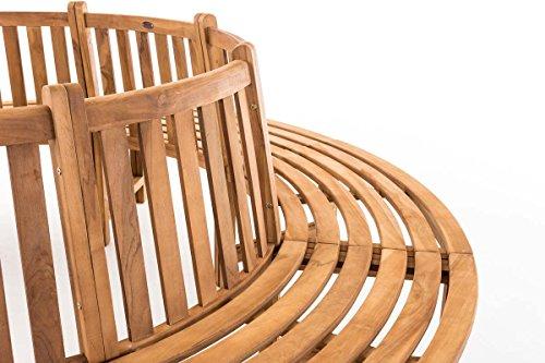 CLP Baumbank NOVUM aus massivem Teak-Holz, 360° Rund-Bank, geeignet für mindestens 8 Personen Ø ca. 132 cm / 250 cm (innen / außen) - 4