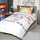 Nimsay Home Parure de lit pour Enfant, Mélange de Coton, Multicolore, Simple