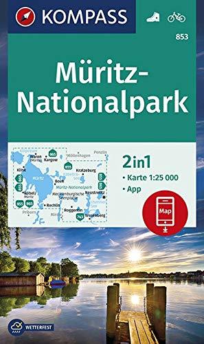 Müritz-Nationalpark: 2in1 Wanderkarte 1:25000 inklusive Karte zur offline Verwendung in der KOMPASS-App. Fahrradfahren. (KOMPASS-Wanderkarten, Band 853)