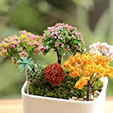BESTIM INCUK 6-Pack Miniature Fairy Garden Ornament Trees DIY Dollhouse Plant Pot Home Decorationation