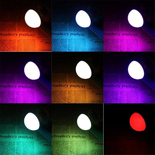 Everpert LED RGB-Birnenlampe AC110V 220V 5W LED RGB-Punktlicht dimmbare E14