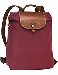 Longchamp - Bolso mochila  para mujer granate