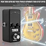 FGHGFCFFGH Mini Pedal Tuner Guitarra Guitar Bass Violin Ukelele Stringed Instruments Tuner Effect Device Dual Display(Black)