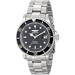 Invicta Men's Pro Diver Automatic Watch with Black Dial Analogue Display and Silver Stainless Steel Bracelet 9937OB