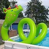 Unbekannt XXL Wasserschlange 600 cm Wasser Drachen Schlange Spielzeug Tier, 2 Luftkammern