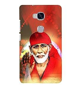 Shirdi Sai Baba 3D Hard Polycarbonate Designer Back Case Cover for Huawei Honor 5X :: Huawei Honor X5 :: Huawei GR5
