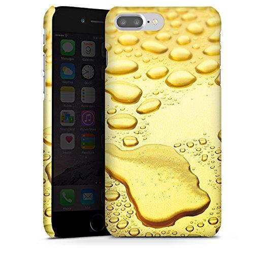 Apple iPhone X Silikon Hülle Case Schutzhülle Gold Look Tropfen Premium Case glänzend
