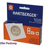 25 x 30 mm Hartberger Münzrähmchen Coinholder selbstklebend self adhesive