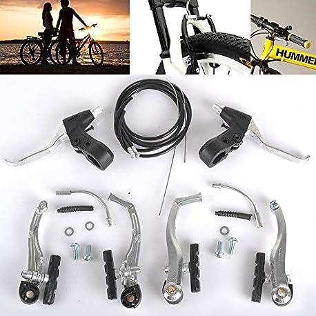 Juego completo de frenos V de aleaci n palancas y cables para bicicleta de monta a o BMX