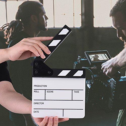 �ße Acryl Schindel trocken löschen TV Film Film Director Schnitt Aktion Szene Clapper Board Schiefer ()