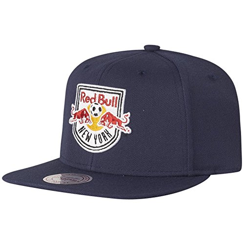 Mitchell & Ness Red Bull New York Wool Solid VR26Z Snapback Cap Basecaps MLS Men
