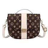Neue mode handtasche 3D druck schulter umhängetasche wilde abendtasche Mamabeutelmappe dame Cross Body bag (beige, 23 * 18 * 7cm)