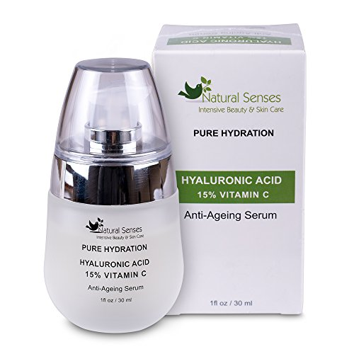 "Moisturiser With Hyaluronic Acid & Vitamin C - Anti Ageing Face Serum - Luxury Skin Care & Moisturiser For A Soft Wrinkle Free Youthful Appearance - This Serum Will Protect Plump Hydrate And Nourish Your Skin - Premium Quality Hyaluronic Acid - Pure Hydration For Face & Neck For All Women & Men - 90 Days ""Peace of Mind'' Guarantee - Special January Promotion"